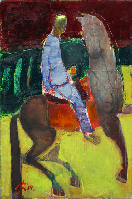 Serhiy Hai, 'Man and Horse in Field', 2019, TEW Galleries