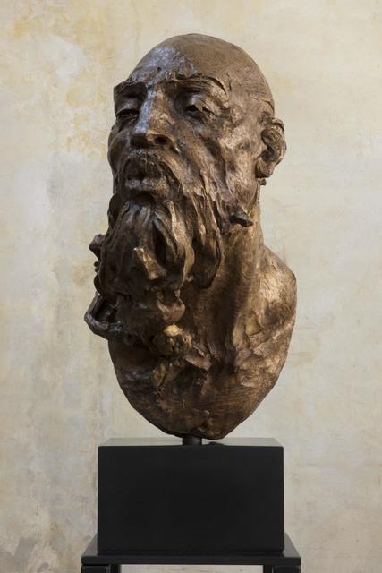Javier Marin, 'Maqueta Cabeza de Hombre, Soplador III', 2017, Sculpture, Bronze, Art Of The World Gallery
