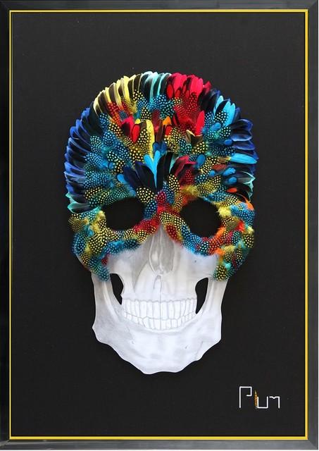 Plum, 'Venetian Skull', 2019, Eden Fine Art