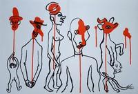 Alexander Calder, Derrière le Miroir No. 156 (Circus 4 - Les Gueules Degoulinantes)