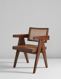 """""""Office"""" armchair, model no. PJ-SI-28-A, designed for the Architects' Office, Secrétariat, and administrative buildings, Chandigarh"""
