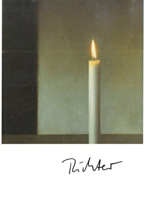 Gerhard Richter, 'Kerze (Hand Signed Card)', ca. 1985, Alpha 137 Gallery Auction