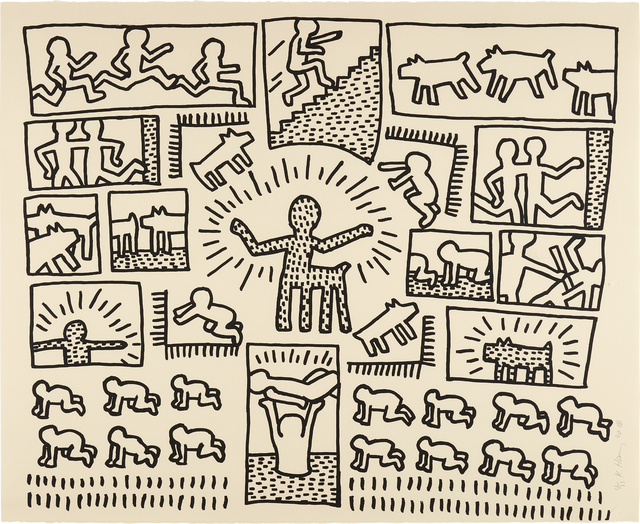 Keith Haring, 'Blueprint Drawing: one plate', 1990, Phillips