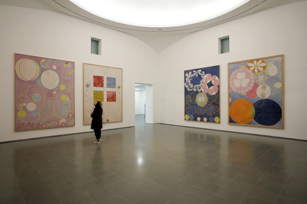 "Installation view of ""Hilma af Klint: Painting the Unseen"" at Serpentine Gallery, London (2016). Image © Jerry Hardman-Jones"