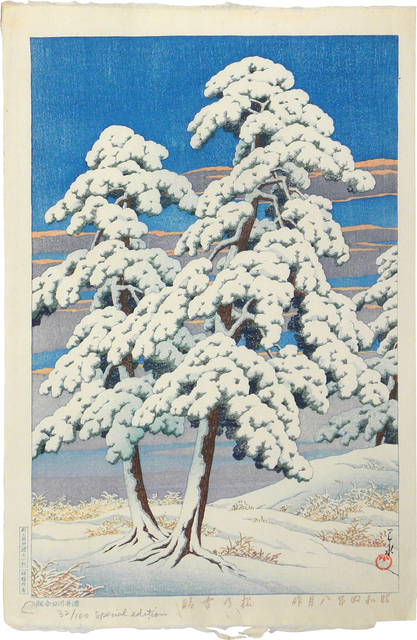 , 'Clearing After a Snow in the Pines,' 1929, Scholten Japanese Art