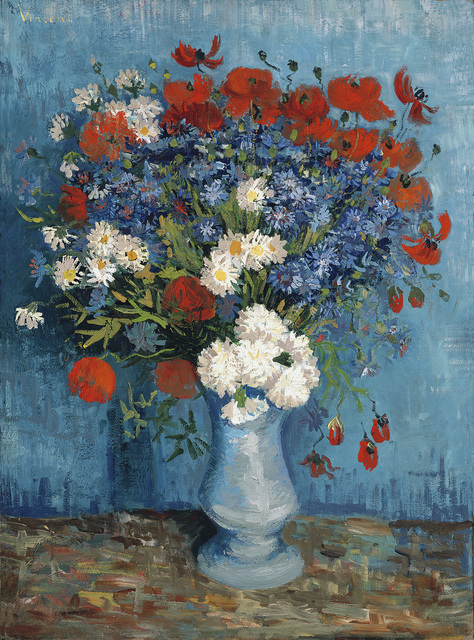 , 'Vase with Cornflowers and Poppies,' 1887, National Gallery of Victoria
