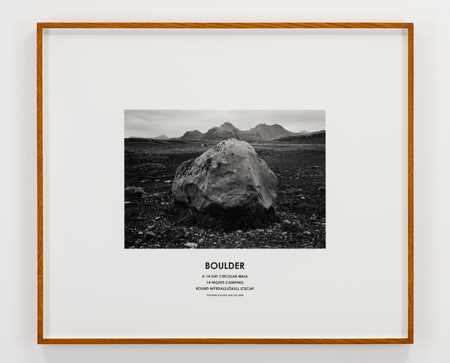 Hamish Fulton, 'Boulder, Iceland, 2008', 2008, Photography, Photograph and text, Parafin