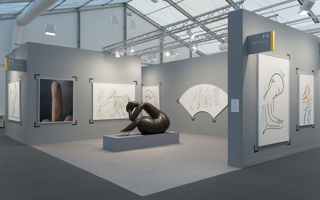 Exhibition Booth London : Kamel mennour at frieze london artsy