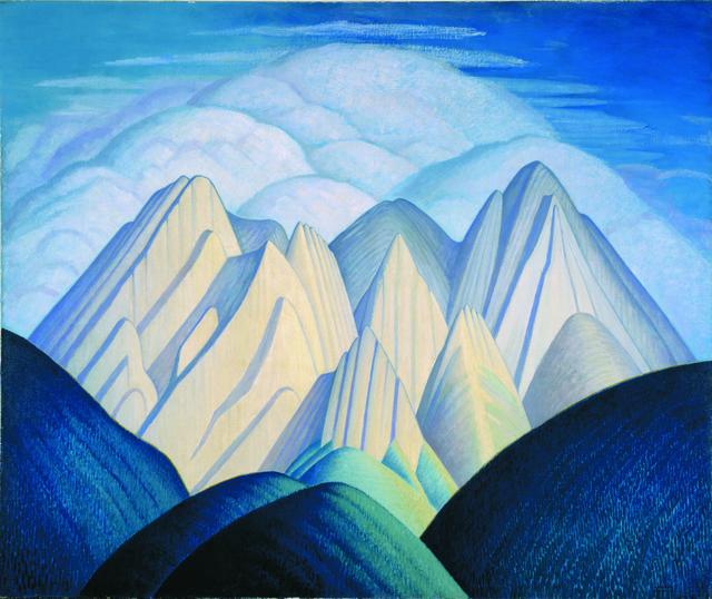 Lawren Stewart Harris, 'Untitled (Mountains Near Jasper)', ca. 1934, Painting, Oil on canvas, Hammer Museum