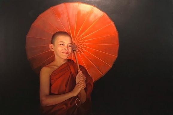 Pajonyut Puvijarn, 'Ambrella Monk ', 2018, Asiart Gallery