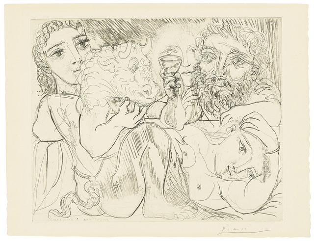 Pablo Picasso, 'Minotaur, buveur et femmes, from: La Suite Vollard', 1933, Christie's