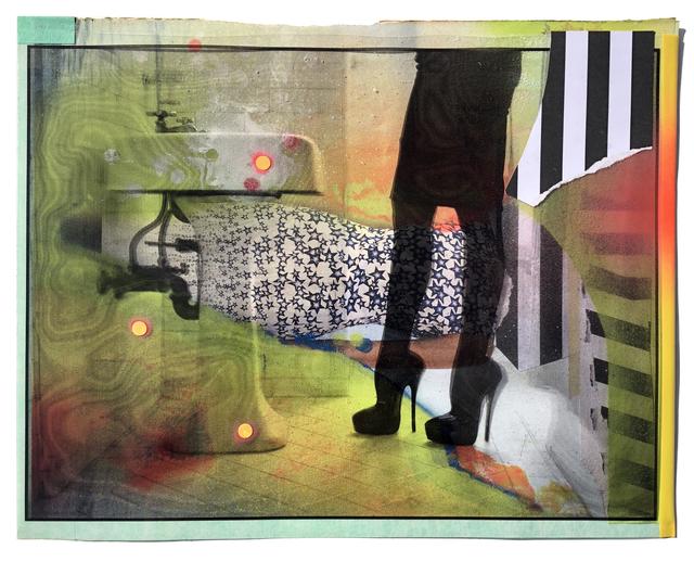 , 'Violette (Collage Study),' 2018, Coagula Curatorial