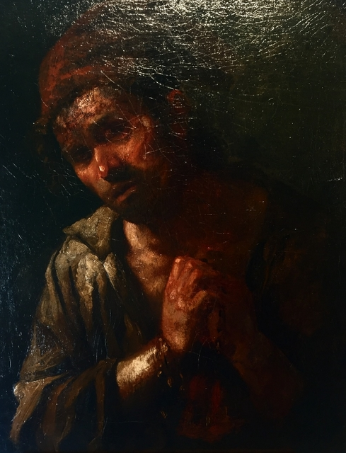 Workshop of Francisco de Goya, 'Peasant in prayer', Half XIX Cent., 11 [HellHeaven]
