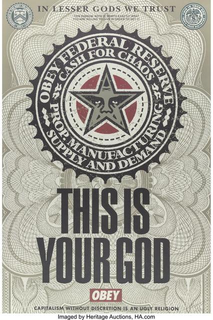 Shepard Fairey, 'This is your God', 2003, Heritage Auctions