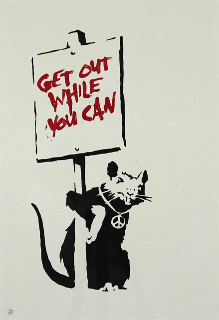 , 'Get Out While You Can (Red),' 2004, Gormleys Fine Art