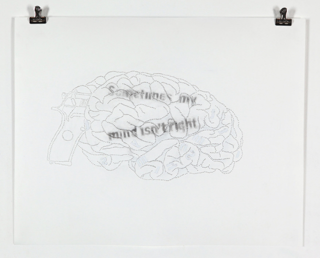, 'Sometimes My Mind Isn't Right,' 2011, Sicardi Gallery