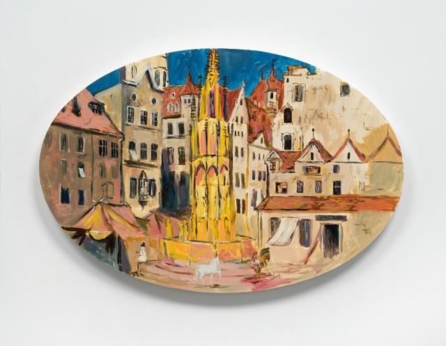 Karen Kilimnik, 'the empty town square, Nuremberg', 2017, 303 Gallery
