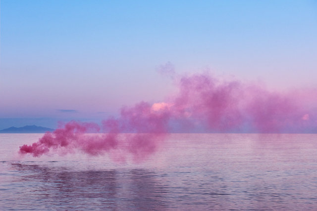 Isabelle & Alexis, 'Aria#07 - Corsica - Pink cloud at sunrise over the sea', 2017, B Lounge Art