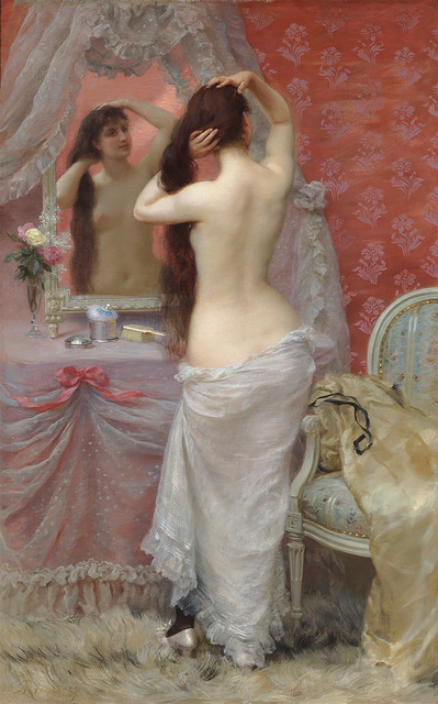, 'Jeune Femme Nue se Coiffant (Young Nude Styling her Hair),' 1887, M.S. Rau Antiques