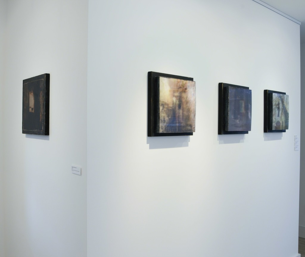 "Installation view, ""Passages & Portals: Mixed Media Works by Dorothy Simpson Krause"""
