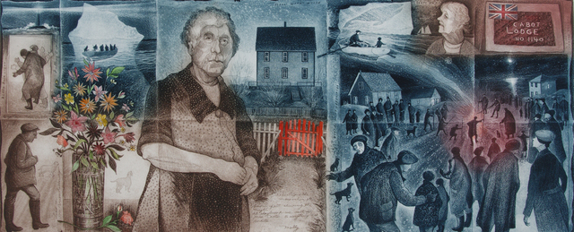 David Blackwood, 'Folded Studies, Bonfire Night on Greenspond Island', 2002, Winchester Galleries