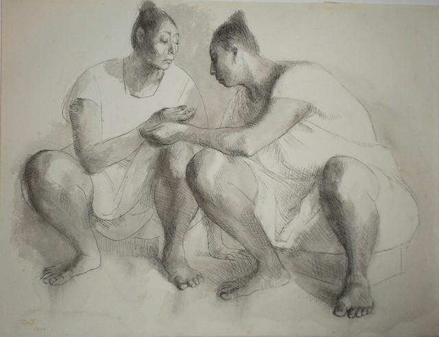 , 'Dos Mujeres en Cuclillas,' 1969, Stern Fine Art