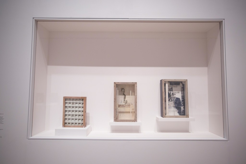 "Installation view of ""Joseph Cornell: Wanderlust"" at The Royal Academy of Arts, London (2015) © David Parry"