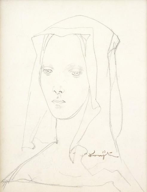 Léonard Tsugouharu Foujita, 'Veiled Lady', Shukado Gallery