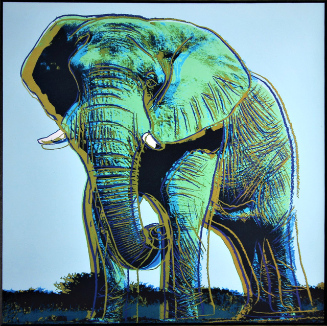 Andy Warhol, 'Elephant for Art Basel 1987', 1987, Print, Glossy color offset lithograph for Art Basel, Mounted and Unframed, EHC Fine Art Gallery Auction