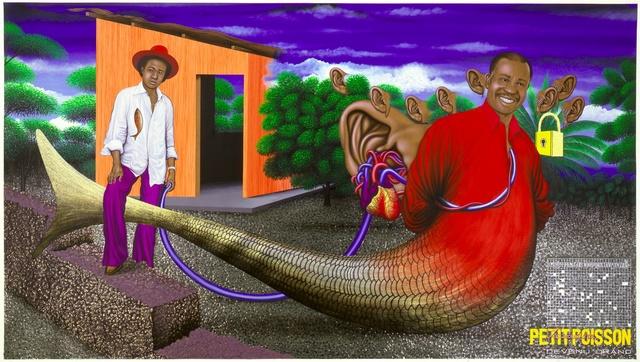 Chéri Samba, 'Le Secret d'un Petit Poisson Devenu Grand (The Secret of the Little Fish Who Grew)', 2002, CAAC The Pigozzi Collection