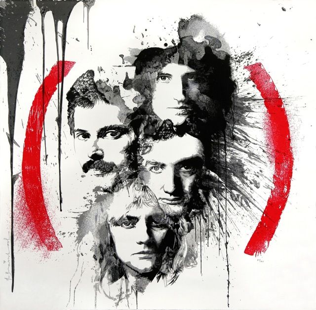 Mr. Brainwash, 'Queen Product (RED)', 2014, Print, Screen print on paper, Addicted Art Gallery