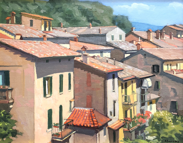 , 'Morning Light, Cortona,' 2019, William Baczek Fine Arts