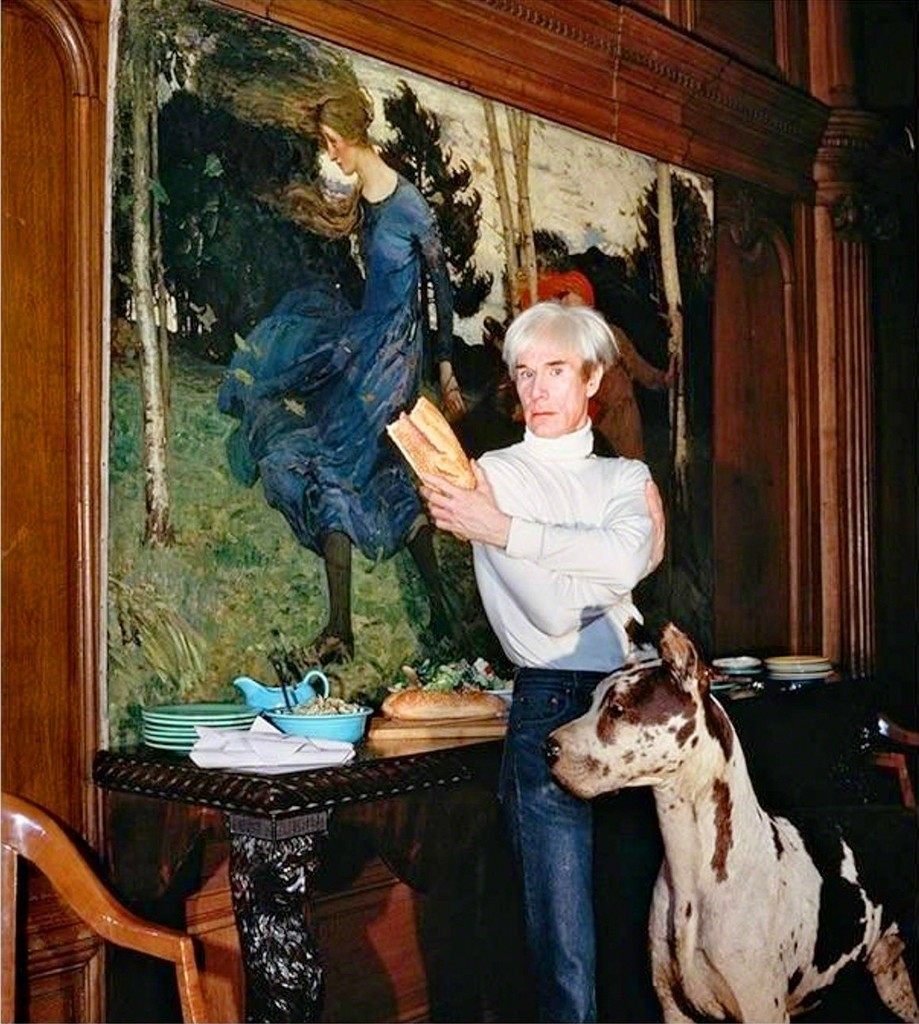 "Andy Warhol in his ""Factory"", NYC"
