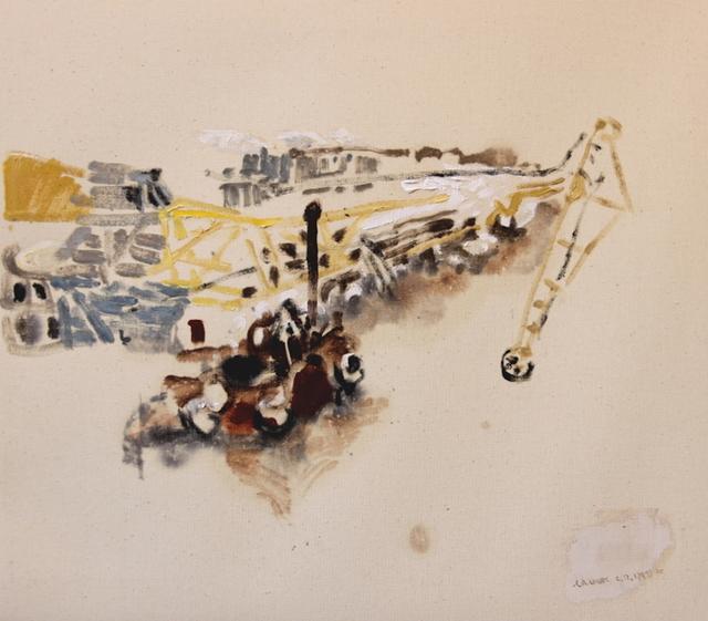 , 'Dredge and Landing Stage, December 6, 2017,' 2017, Robert Kananaj Gallery