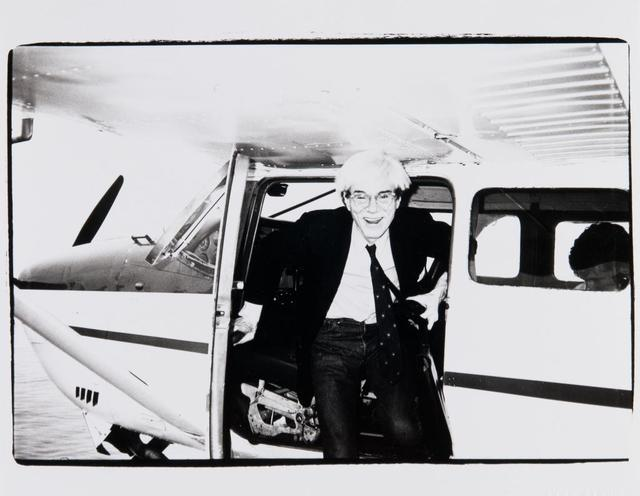 Andy Warhol, 'Andy Warhol on a Seaplane in Montauk', 1982, Hedges Projects