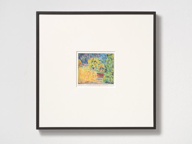 Rinus Van de Velde, 'The biggest compliment', 2019, Drawing, Collage or other Work on Paper, Color pencil on paper, framed, KÖNIG GALERIE