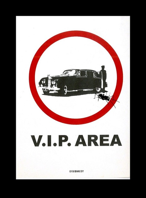 Banksy, 'V.I.P. Area', 2004, Print, Original digital print sticker on fasson backing. unframed., Alpha 137 Gallery Gallery Auction