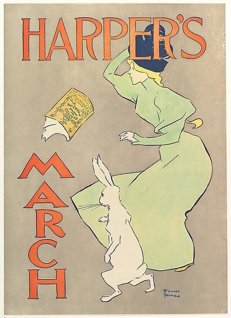 Edward Penfield, 'Harper's March', 1895, Sylvan Cole Gallery
