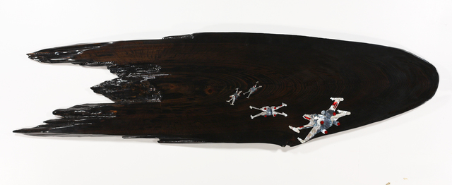 "Ted Lincoln, 'battle of yaven,, 66"" x 18"" x 2"",,', 2013, Joseph Gross Gallery"