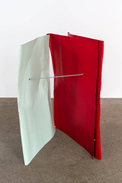 , 'Lichtgrün/Orientrot/Orientrot (Flyer 3-teilig),' 2016-2018, Galerie Elisabeth & Klaus Thoman