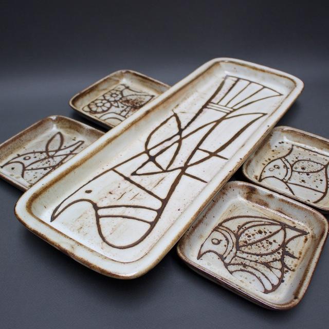 , 'Serving Platter and Small Plate Set,' 1950-1959, Bureau of Interior Affairs