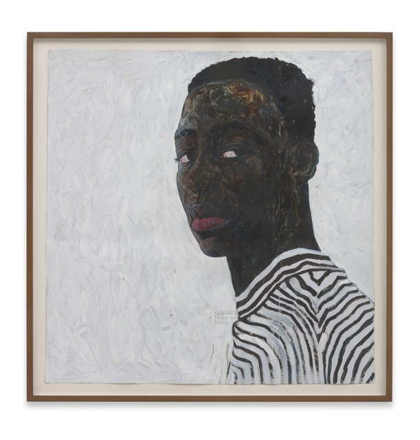 , 'Boy in a Black and White Stripe Shirt,' 2018, Roberts Projects