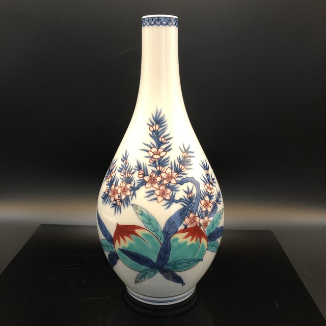 , 'Japanese Vase with flowers and peaches design,' 20th Century , Romang Antiques Gallery - Asian Art