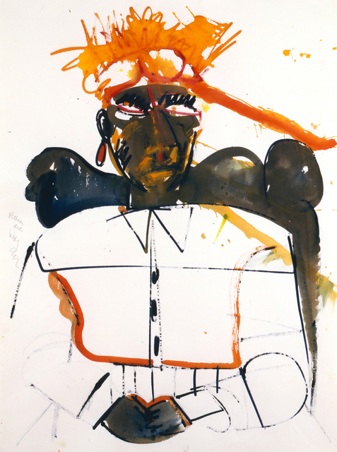 Romare Bearden, 'Obeah of High Category', 1984, Drawing, Collage or other Work on Paper, Watercolor on paper, Alan Avery Art Company