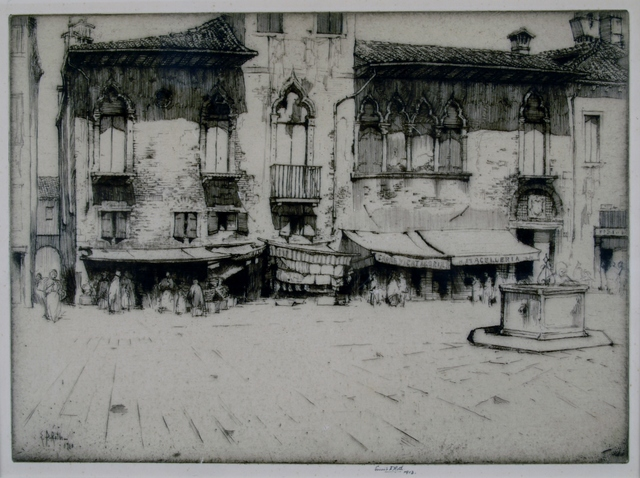 Ernest David Roth, 'Campo San Margarita, Venice', 1913, Print, Etching, Private Collection, NY