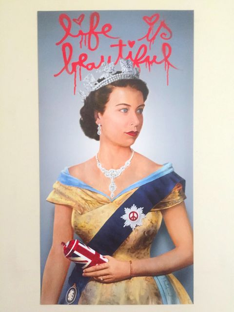 "Mr. Brainwash, 'MR BRAINWASH ""LIFE IS BEAUTIFUL"" ELIZABETH II LITHOGRAPH LONDON EXCLUSIVE UK', 2012, Arts Limited"