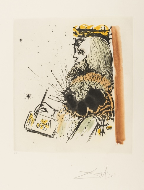 Salvador Dalí, 'Portrait de Calderón (from Calderón: La Vie est un songe) (M&L 515a; Field 73-1-D)', 1971, Print, Etching with aquatint printed in colours, Forum Auctions