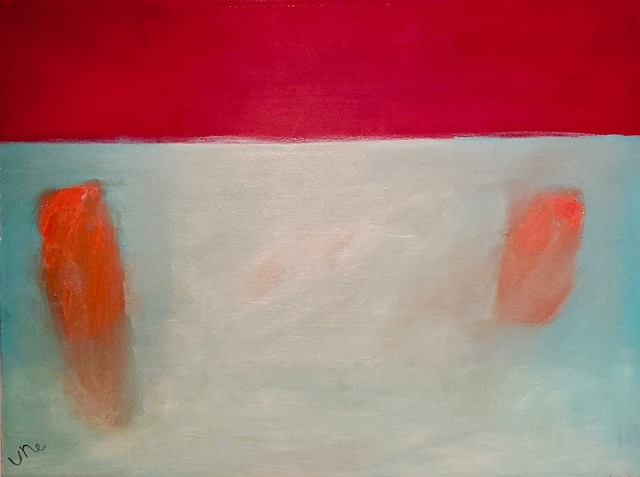 Ulla Neigenfind, 'A Time Before Words: Light Blue, Red', 2018, Painting, Oil/Canvas, Miller White Fine Arts