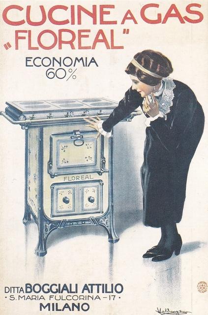 , 'Cucine a gas Floreal Boggiali,' 1915, Triennale Design Museum