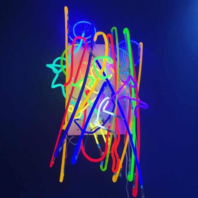 Craig Kraft, 'Random Neon #1', 2013, Sculpture, Neon, wood, transformer, Seraphin Gallery